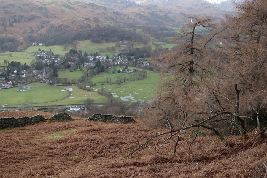 Grasmere village below