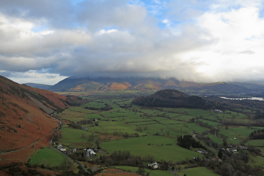 Towards Skiddaw from the climb up Rowling End