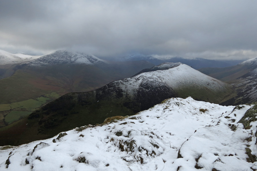 Ard Crags from Causey Pike's summit