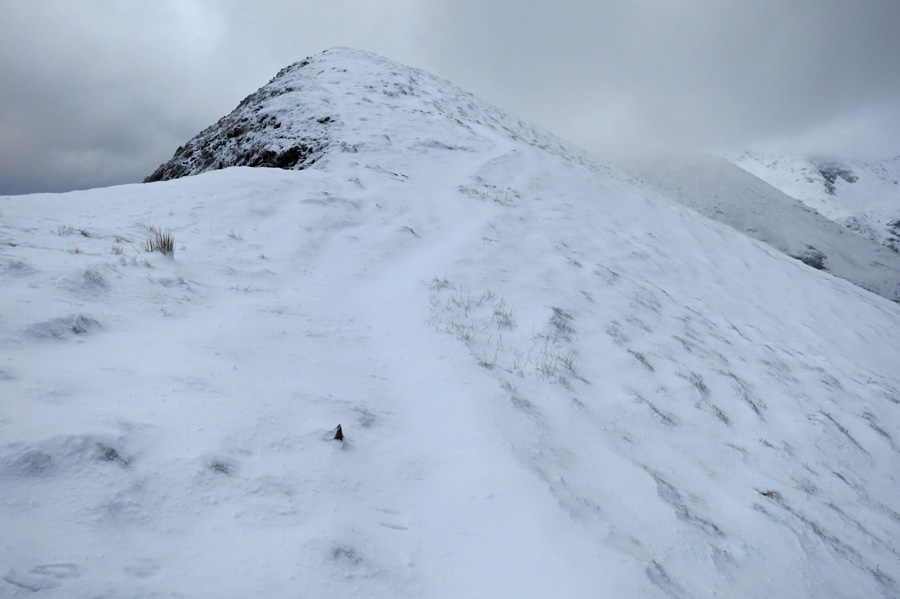 Heading up Scar Crags