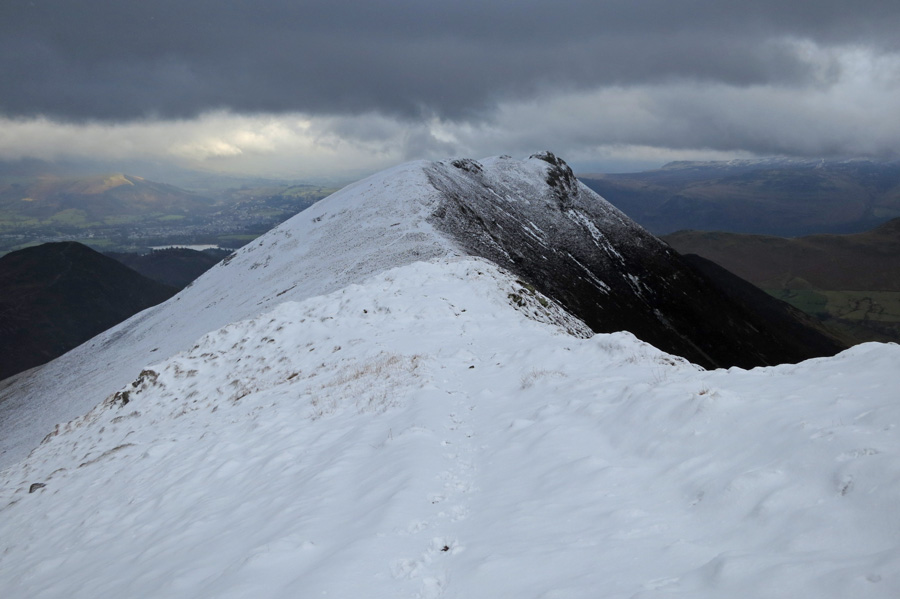 Looking back to Causey Pike