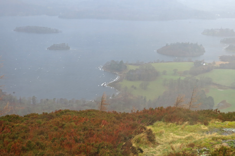 Derwent Water from Walla Crag's summit