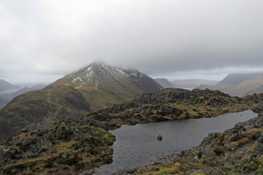 Haystacks summit tarn and Gamlin End (High Crag)
