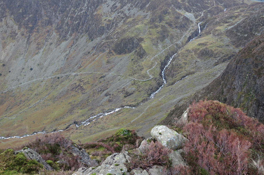 Looking down on Warnscale Beck