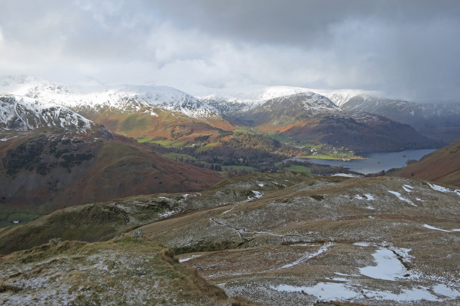 Looking back towards Ullswater from Angletarn Pikes northern top