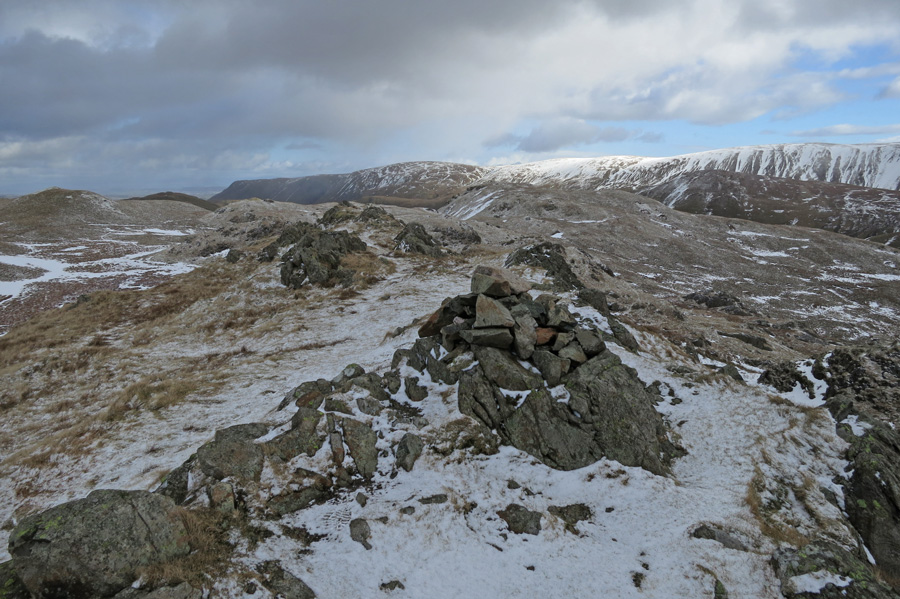 The cairn on Angletarn Pikes south top