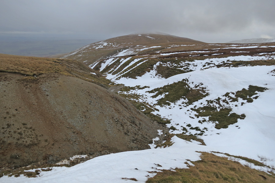 Towards Carrock Fell from the top of Drygill