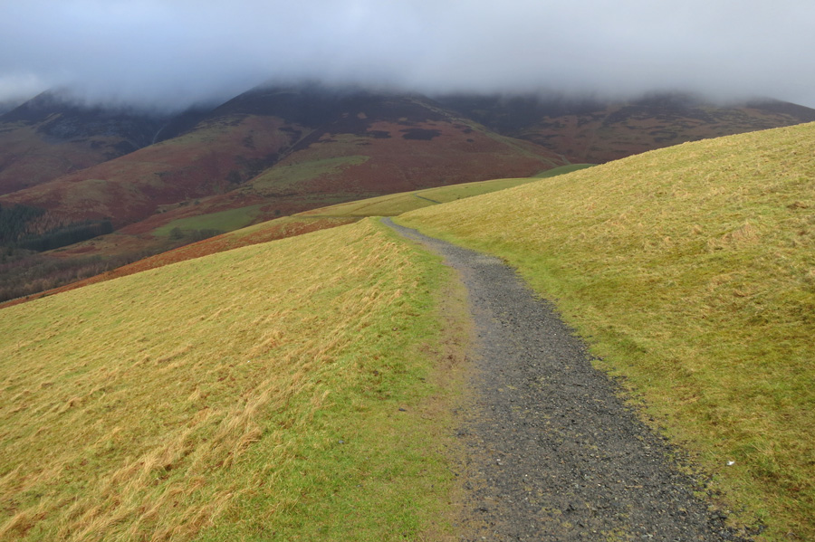 The bottom of the Skiddaw fells