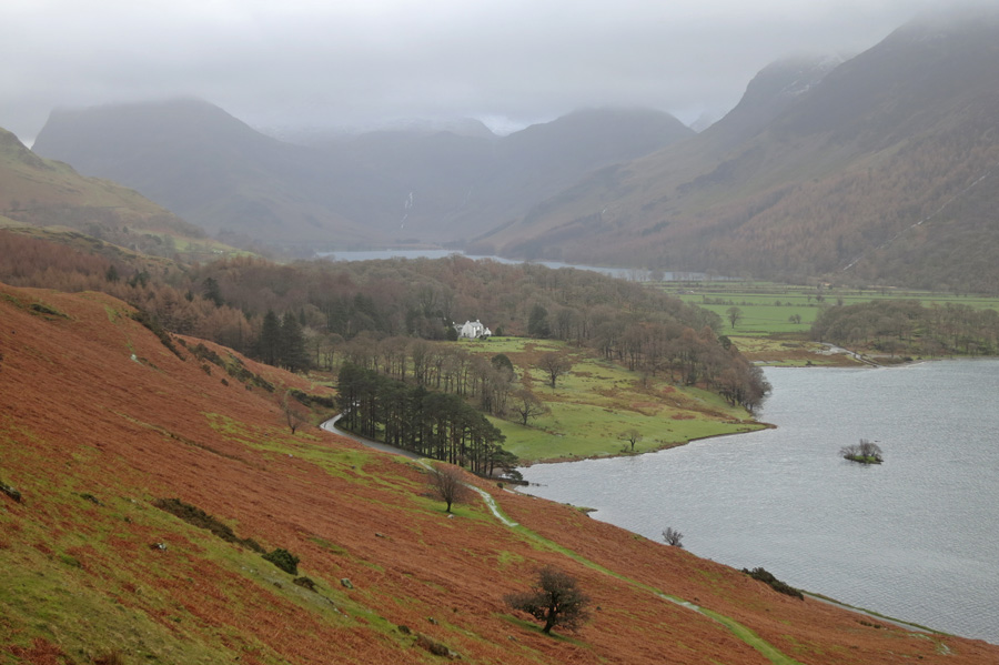 Looking towards Buttermere from the start of the ascent