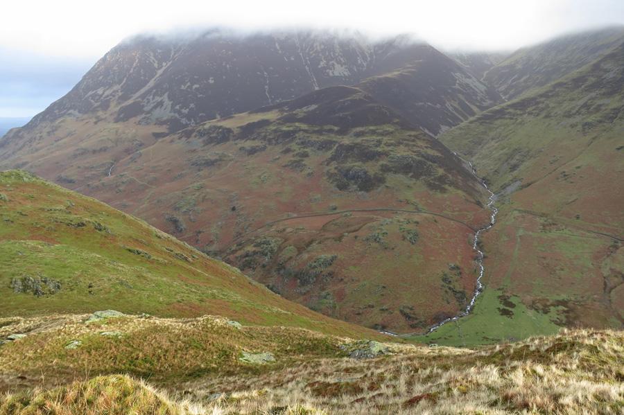 The top of Grasmoor in cloud