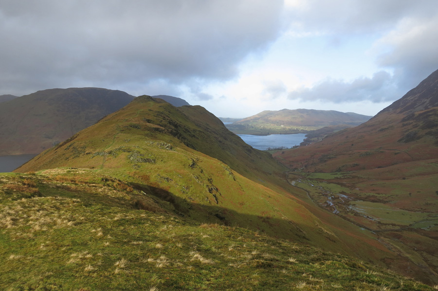 Looking back to Rannerdale Knotts from Low Bank