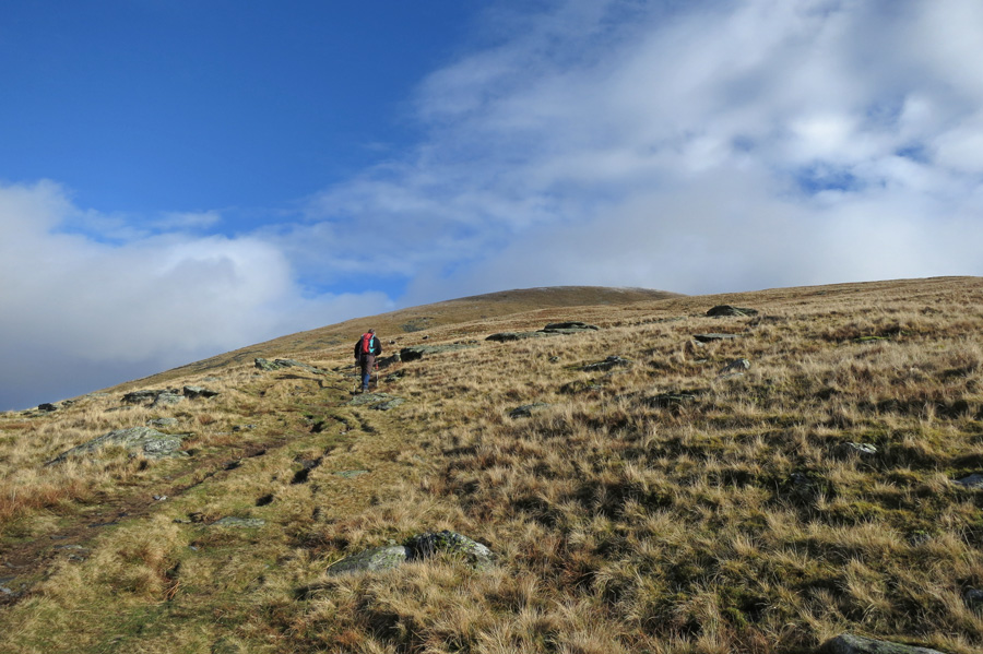 Heading up Blease Fell