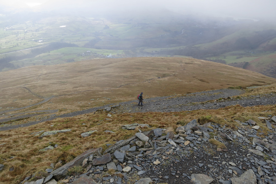 Heading back down the Blease Fell zig-zags