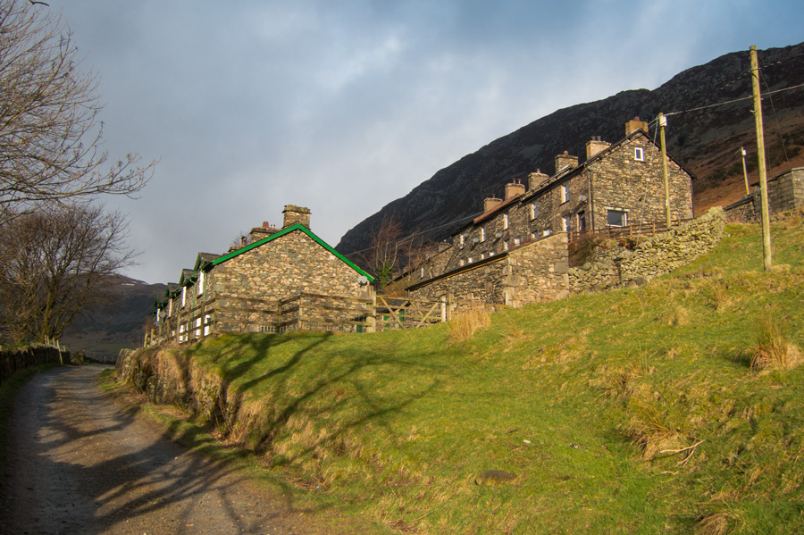 Rake Cottages as I head out of the village