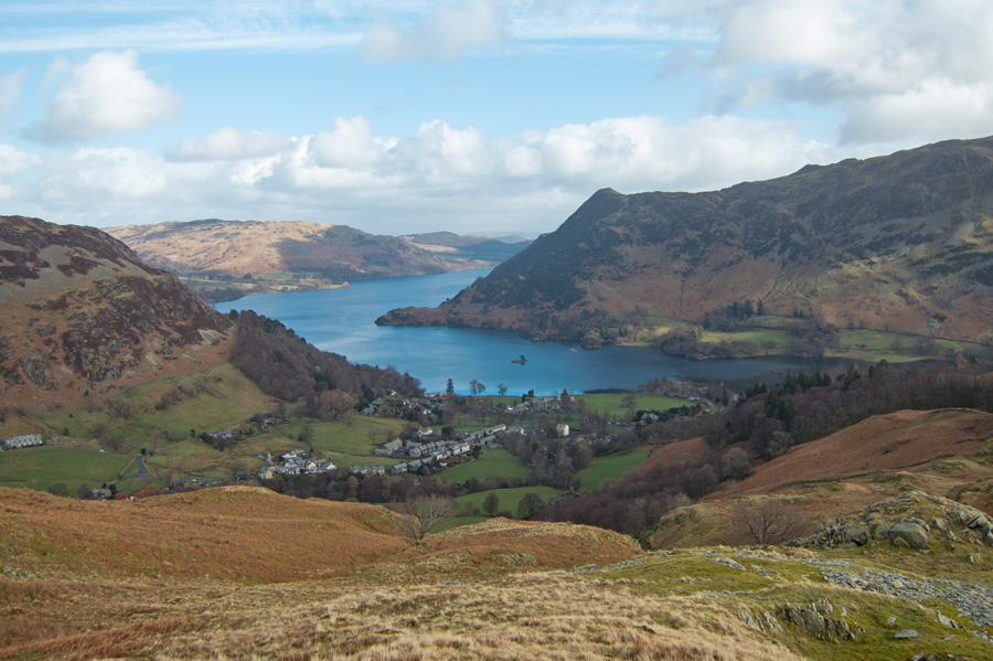 Glenridding and Ullswater from my descent