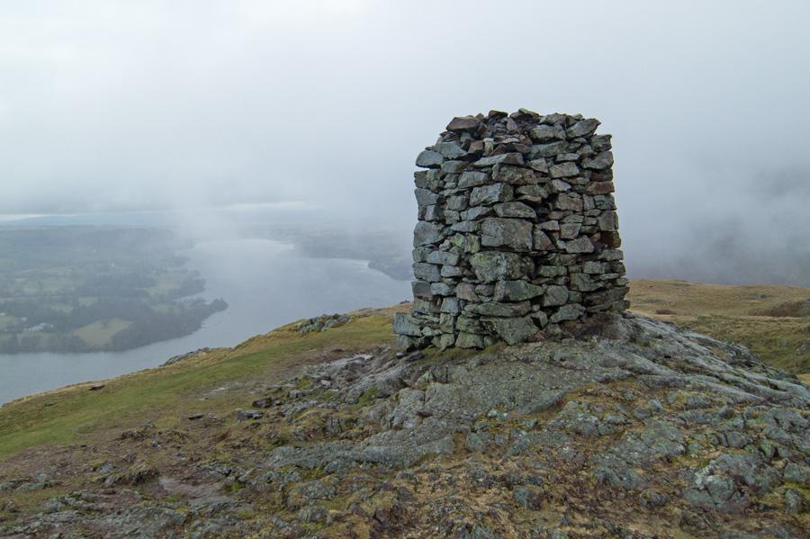 The obelisk on Hallin Fell's summit