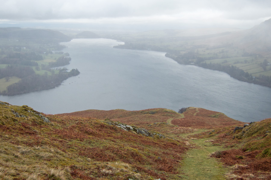 Looking northwards down Ullswater from Hallin Fell