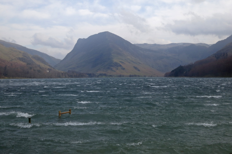 A squall comes down Buttermere
