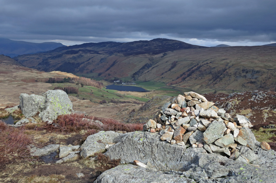 Watendlath from Great Crag's northern top