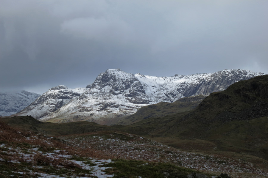 Zooming in on the Langdale Pikes