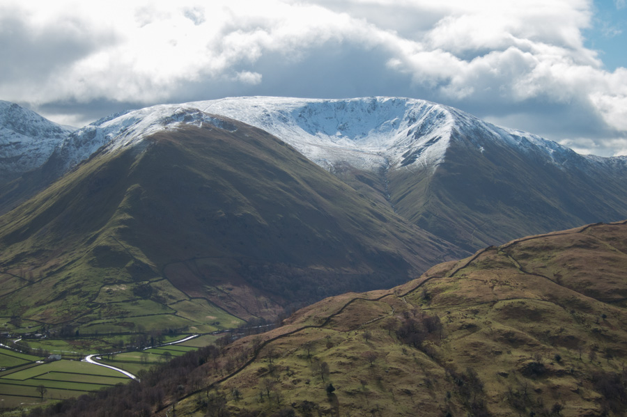 Hartsop Dodd and Rough Edge leading up onto Caudale Moor