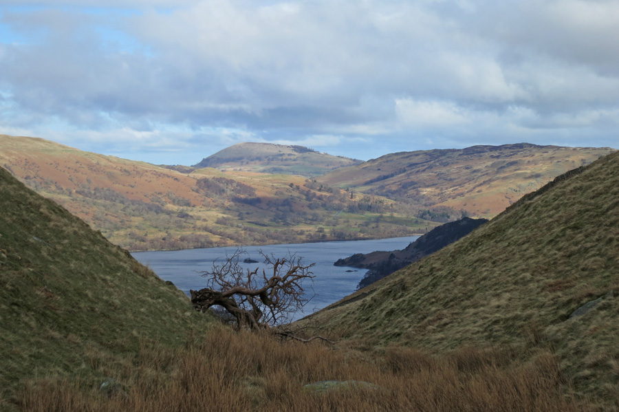 Ullswater and Great Mell Fell from Trough Head