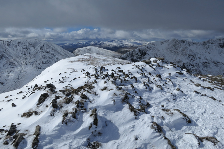 South west from St Sunday Crag's summit