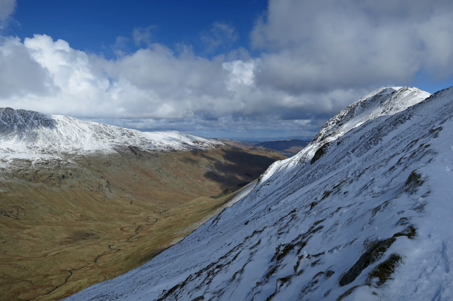 Grisedale and St Sunday Crag from the descent from Deepdale Hause