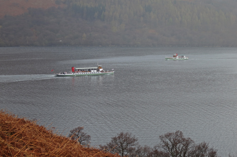 Passing Ullswater Steamers