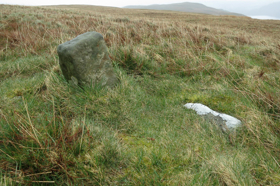 The old boundary stone near the summit of Low Kop