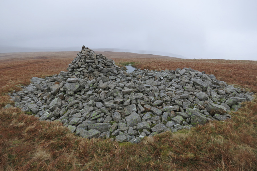 The large cairn / tumulus on Low Raise