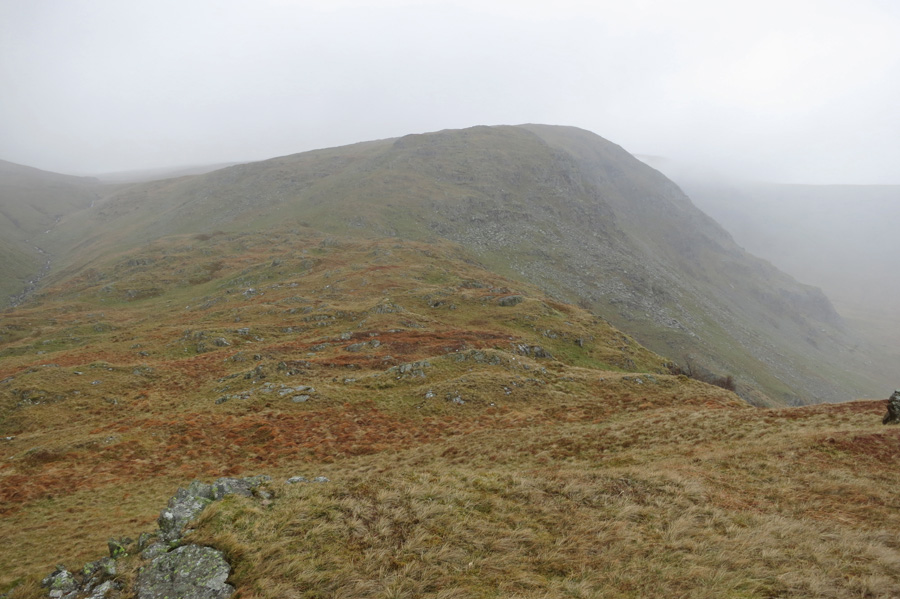 Looking back up the ridge