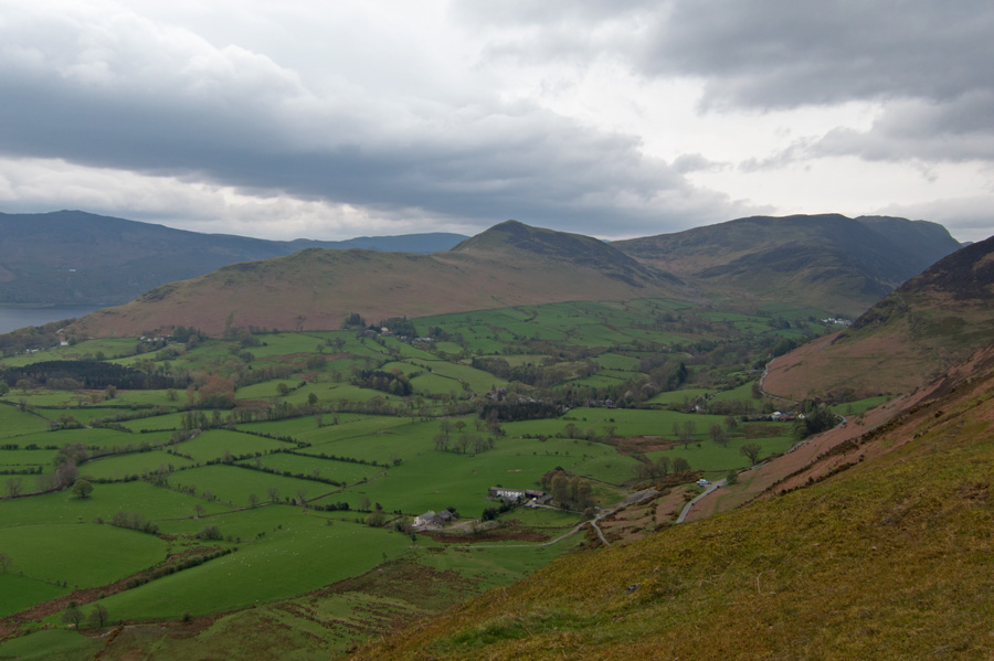 Looking across the Newlands Valley to Catbells