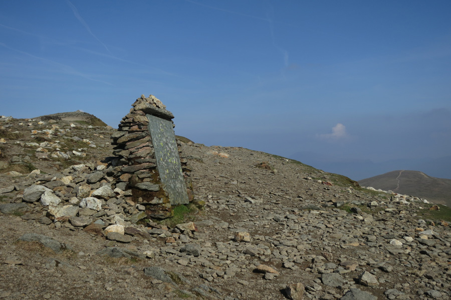 The Gough Memorial, above Striding Edge