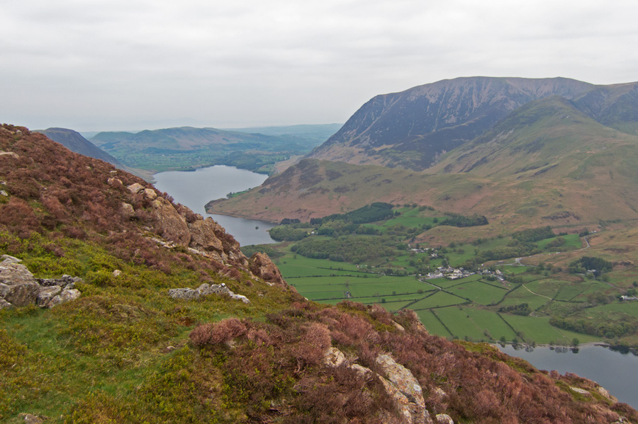 A first view of Crummock Water as my path reaches the ridge