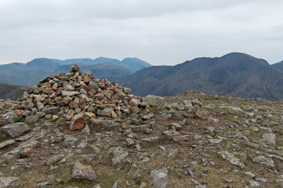 The large summit cairn on High Stile
