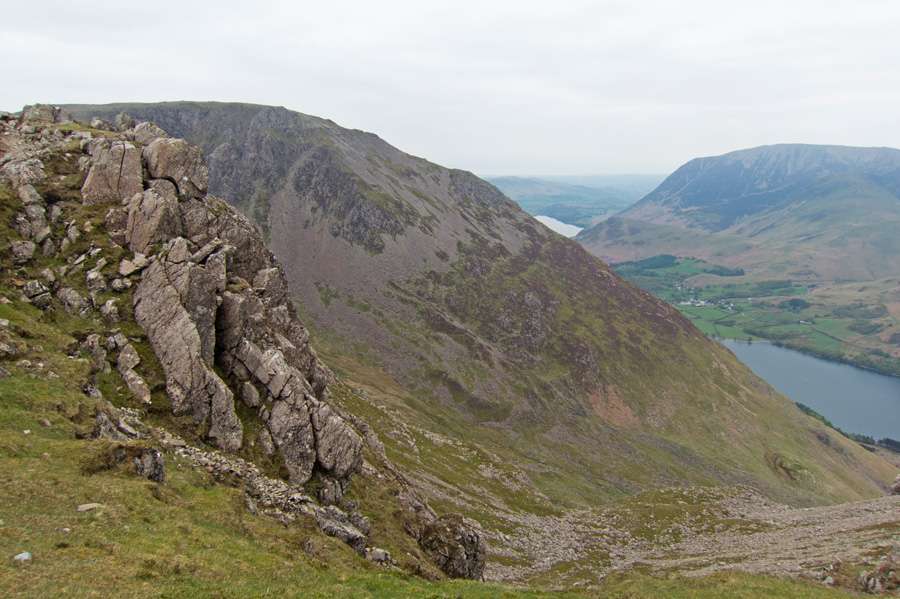 Looking back to High Stile and my ascent route