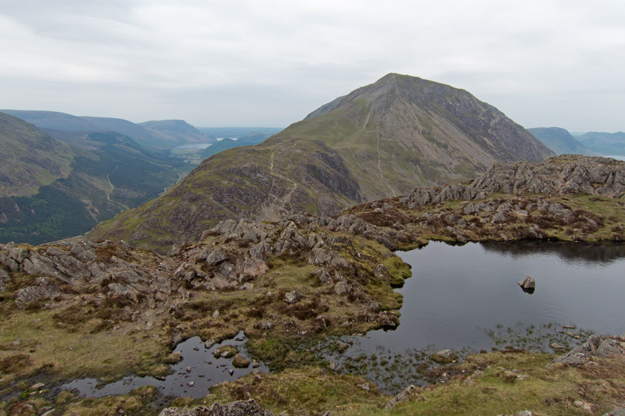 Seat and High Crag from Haystacks summit