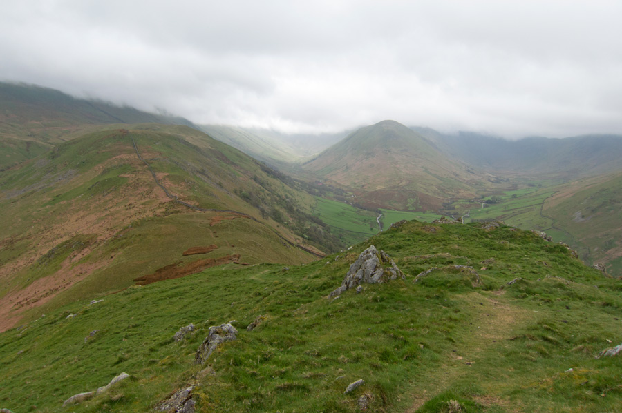 Looking towards The Nab from Steel Knotts summit