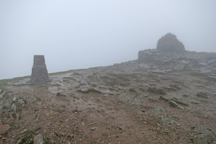 Coniston Old Man summit, to ourselves!