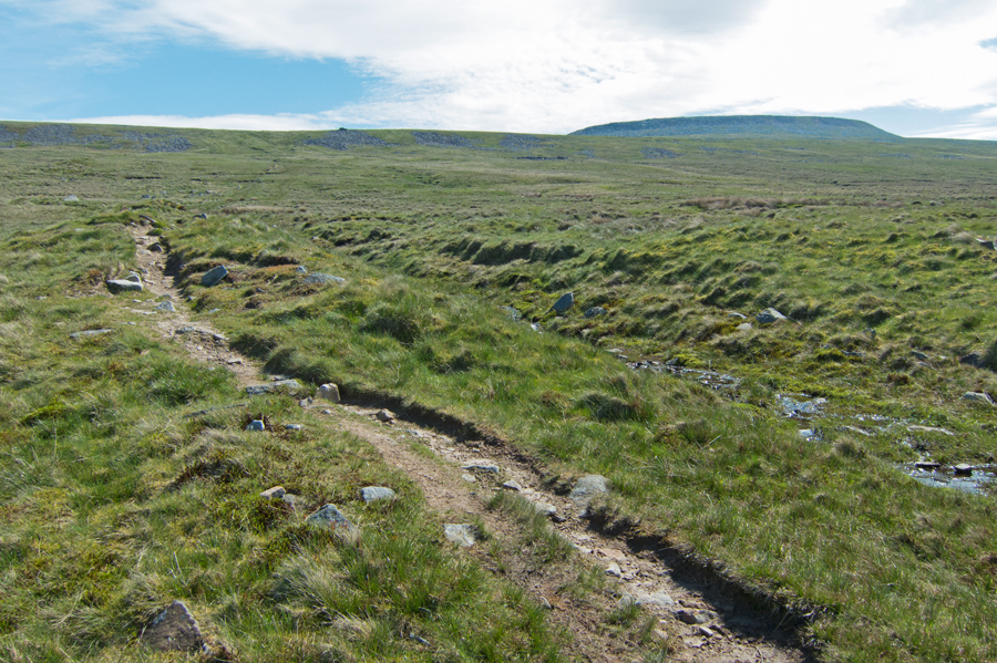 Cross Fell's summit comes into view