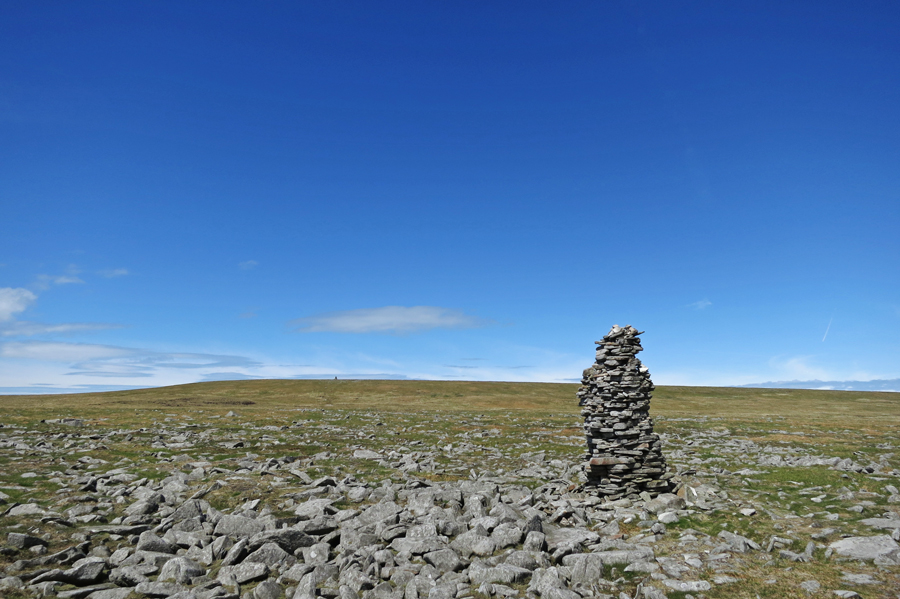 Looking back from the next cairn