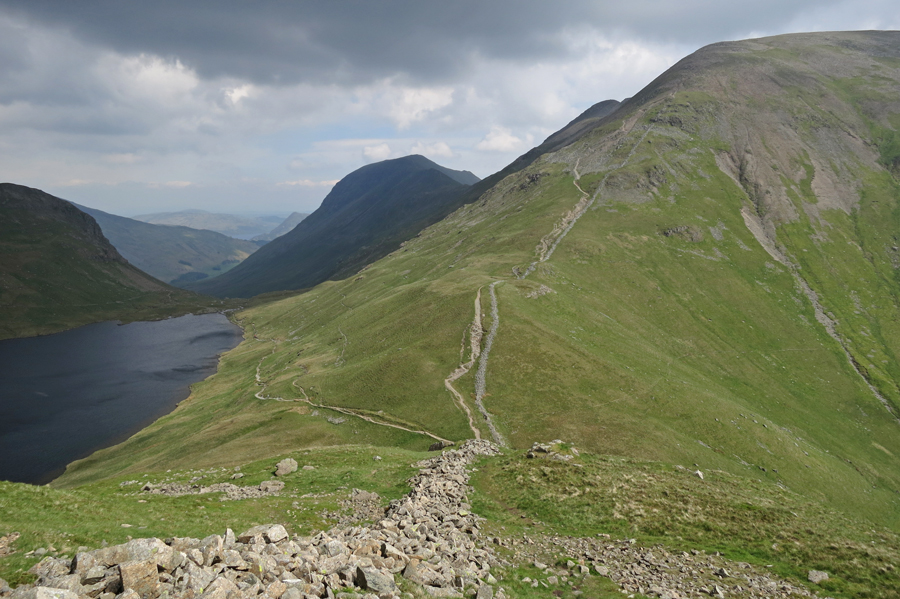 A bit of Grisedale Tarn, St Sunday Crag and Fairfield as we head up Seat Sandal
