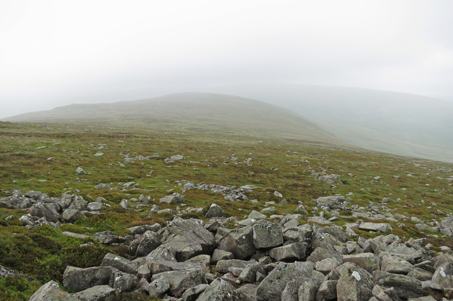 Looking back along the ridge, High Pike is somewhere over there