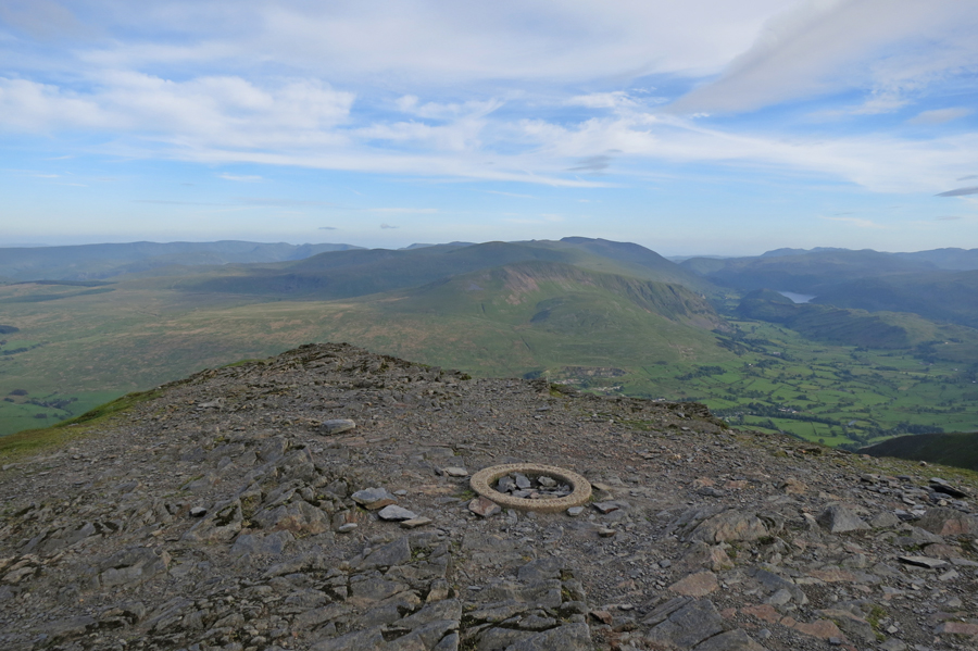 The view south from Blencathra's summit