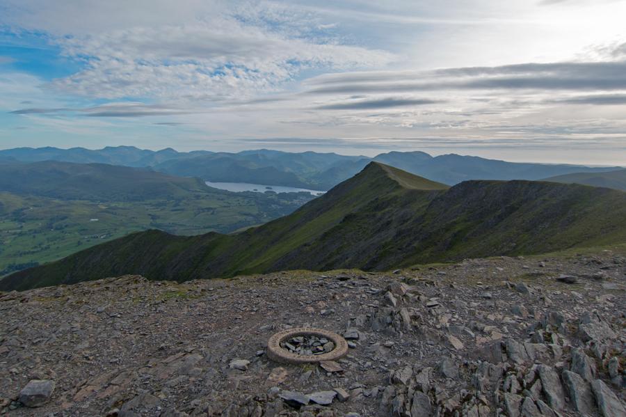 Gategill Fell Top from Hallsfell Top, Blencathra's summit