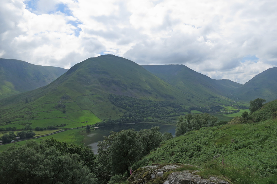 Looking over Brothers Water to Hartsop Dodd
