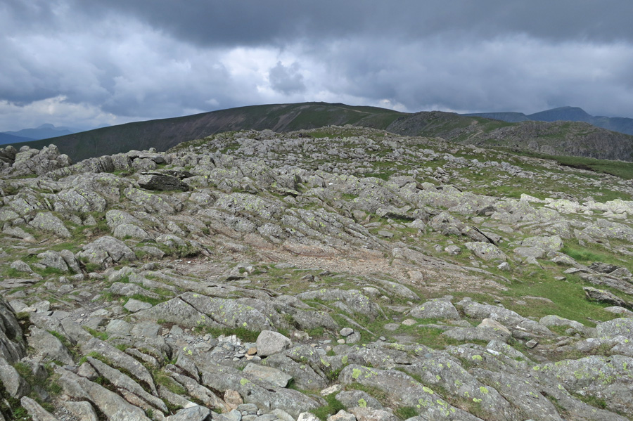Hart Crag summit, looking towards Fairfield
