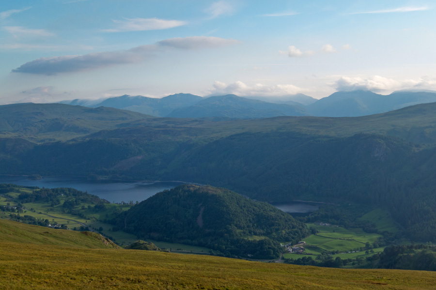 View over Thirlmere to the high central fells