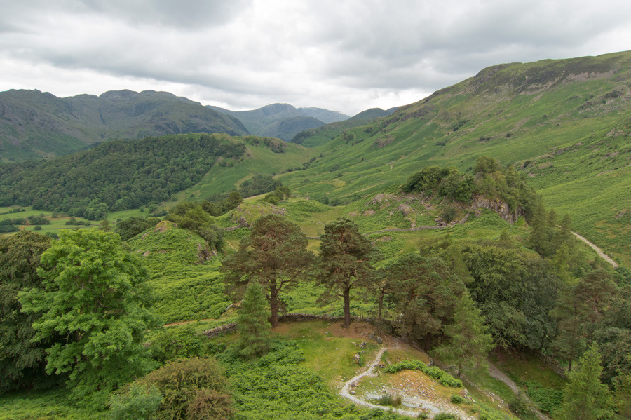 Looking up Borrowdale to Great End